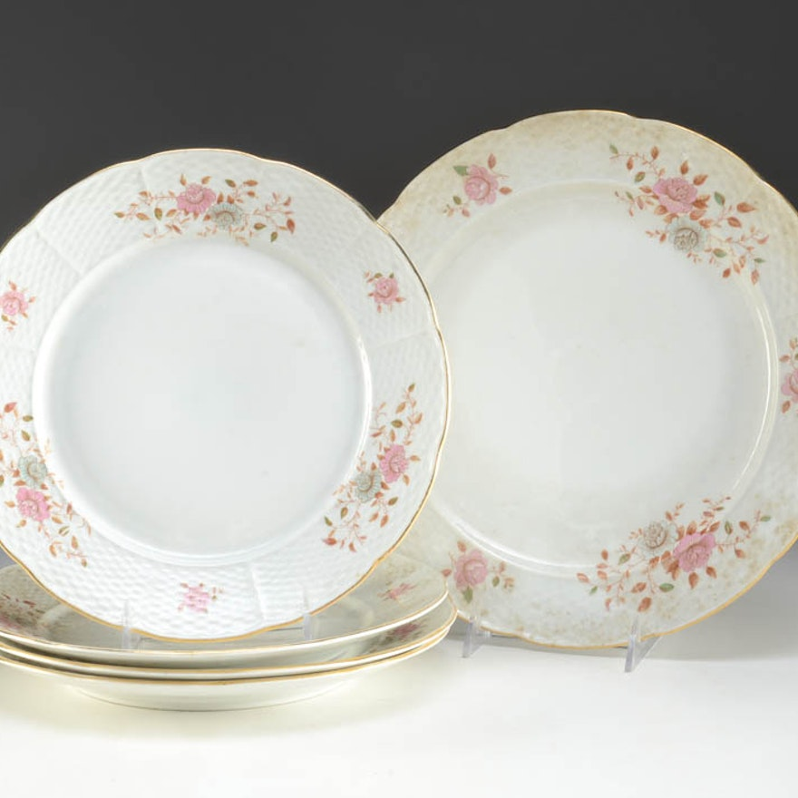 """Fine Bohemian China """"Versailles"""" Plates and Charger"""