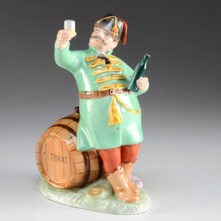 Herend Hungary Hand Painted Hussar Drinking Wine