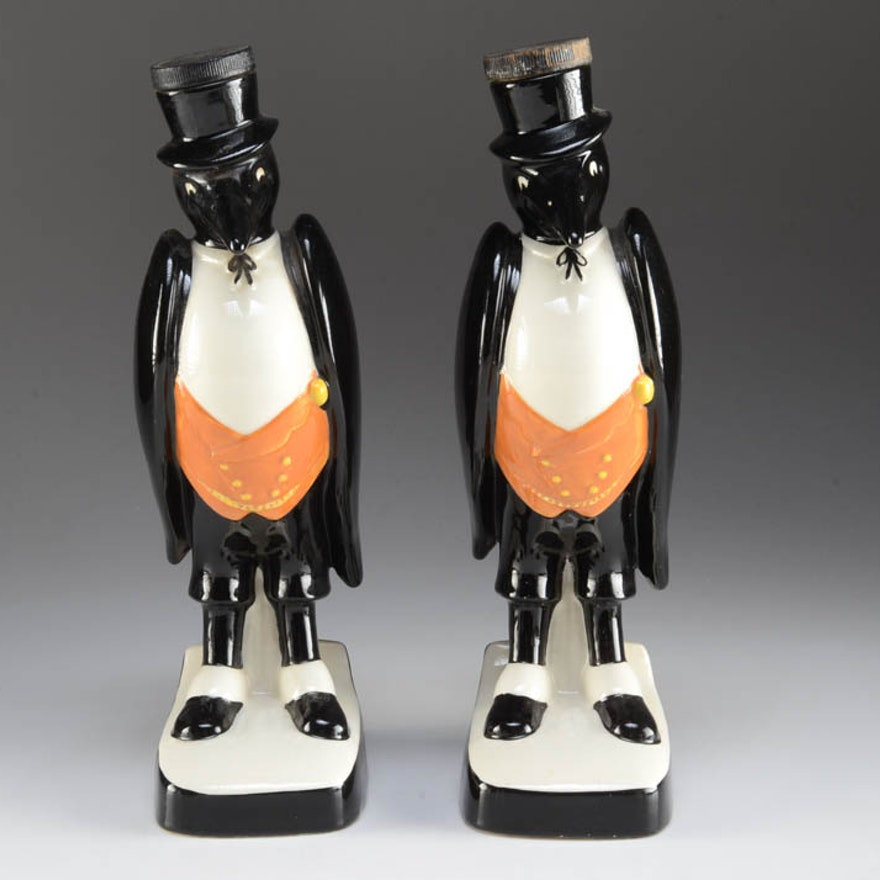 """Two Royal Doulton """"Old Crow"""" Decanters"""