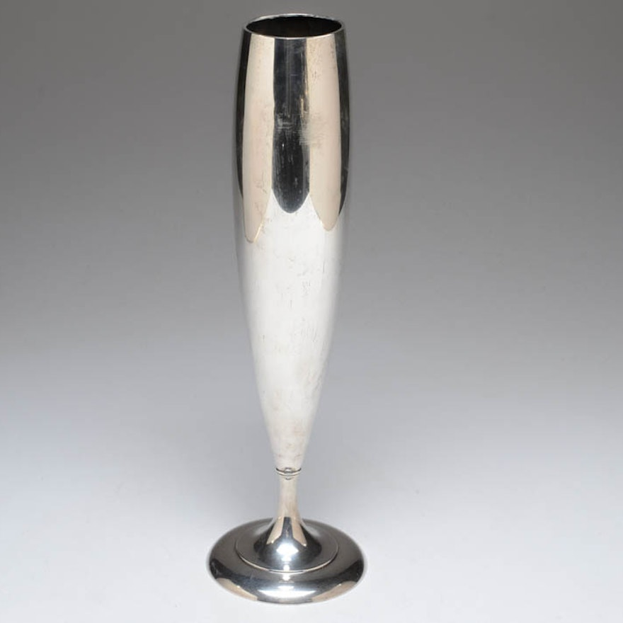 Unger Brothers Sterling Weighted Vase