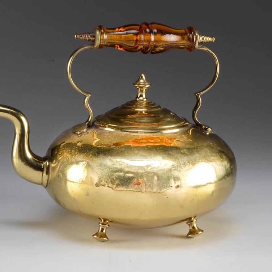 Antique Brass Teapot