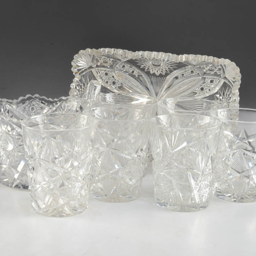 Assorted Cut Glass