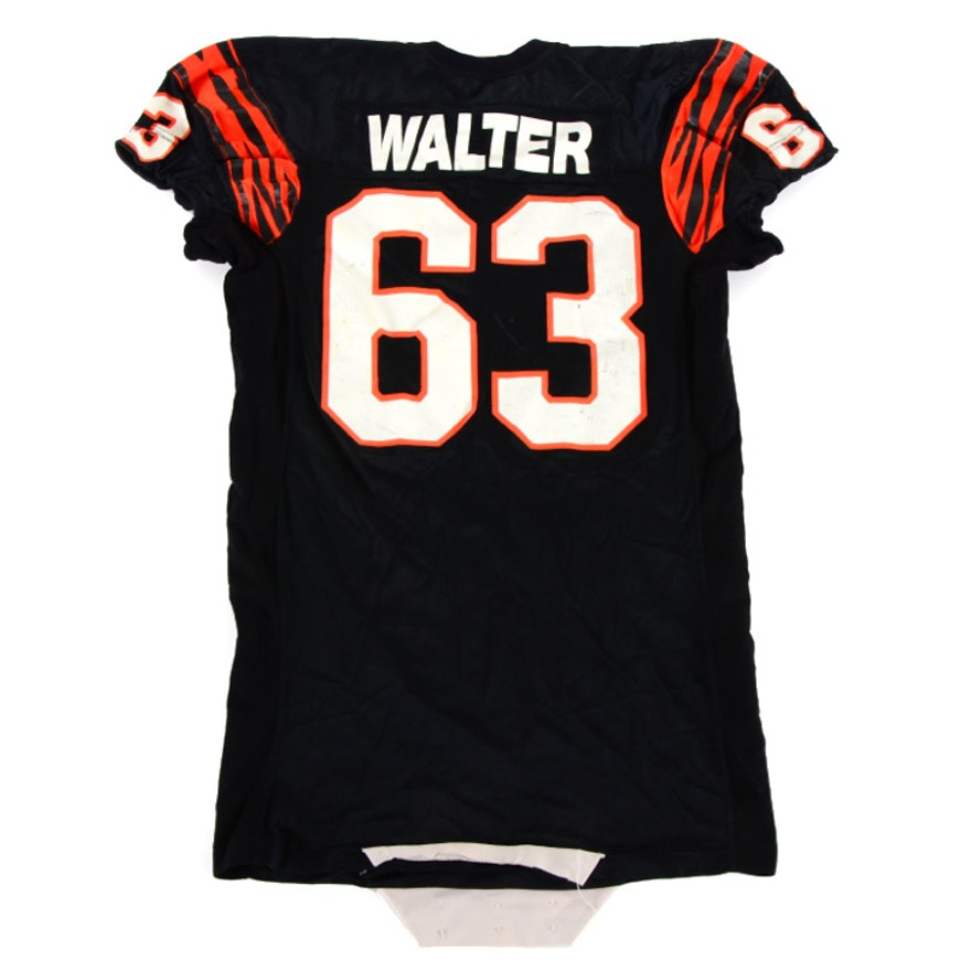 Joe Walter 1980s Game Used Bengals Jersey