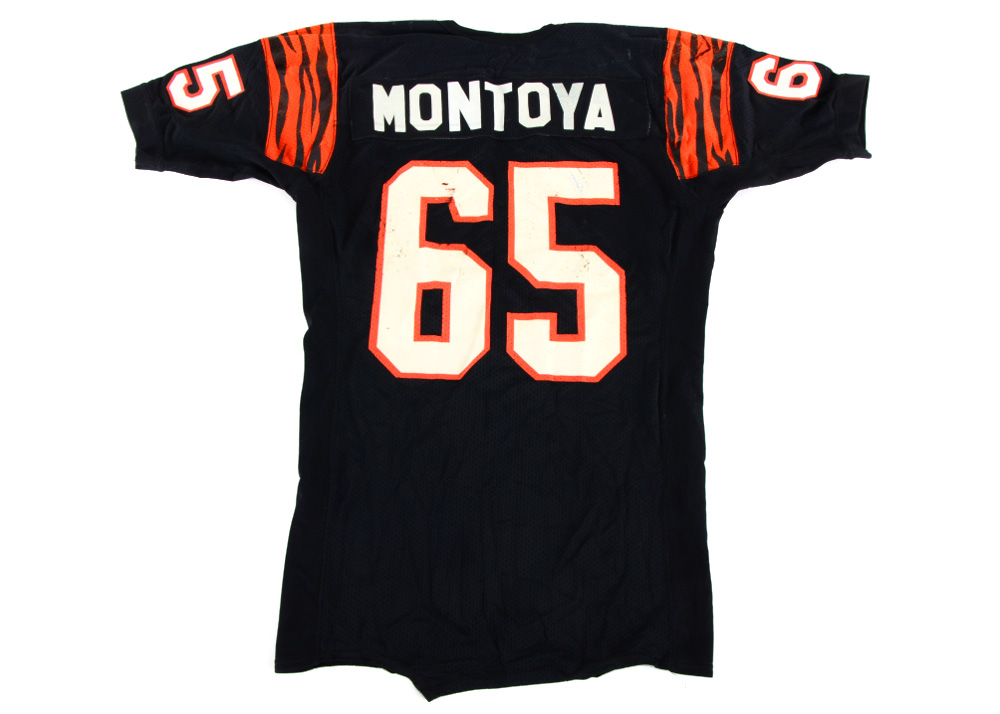Max Montoya 1980s Game Used Bengals Jersey : EBTH