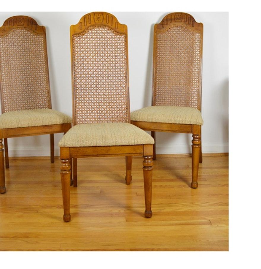Three Bernhardt Cane Back Dining Chairs EBTH