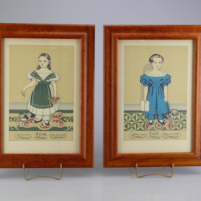 Vintage art prints art print auctions lithographs for sale in pair of w king ambler lithographs solutioingenieria Choice Image
