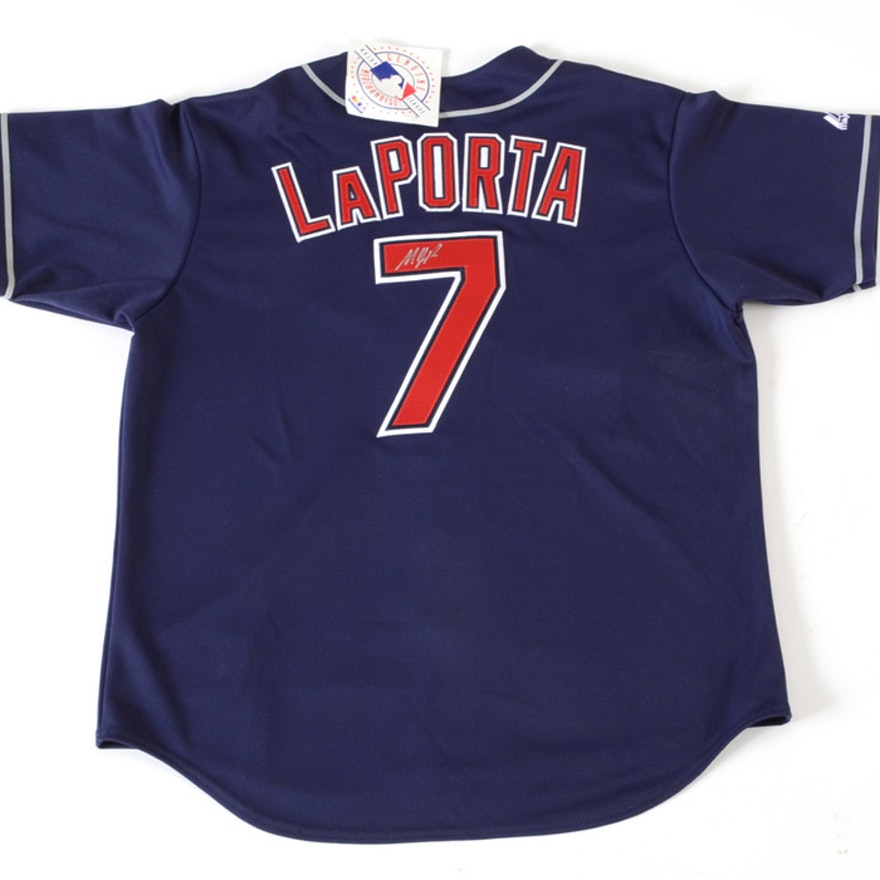 Matt LaPorta Signed Indians Jersey