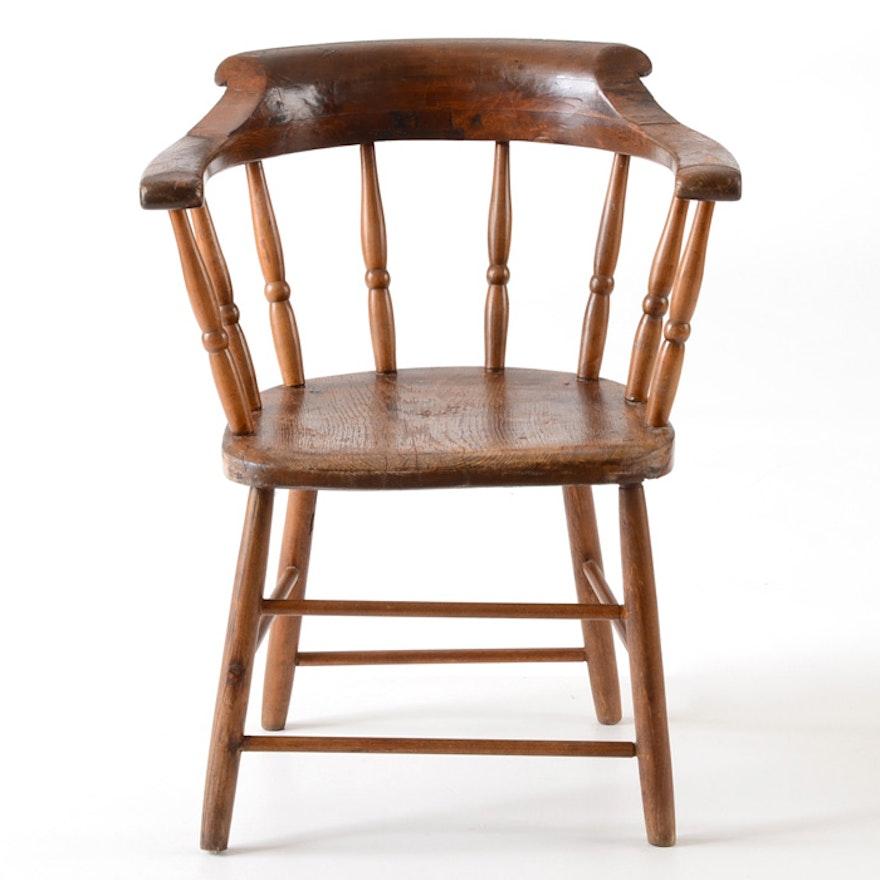 Colonial Williamsburg Poplar Captains Chair
