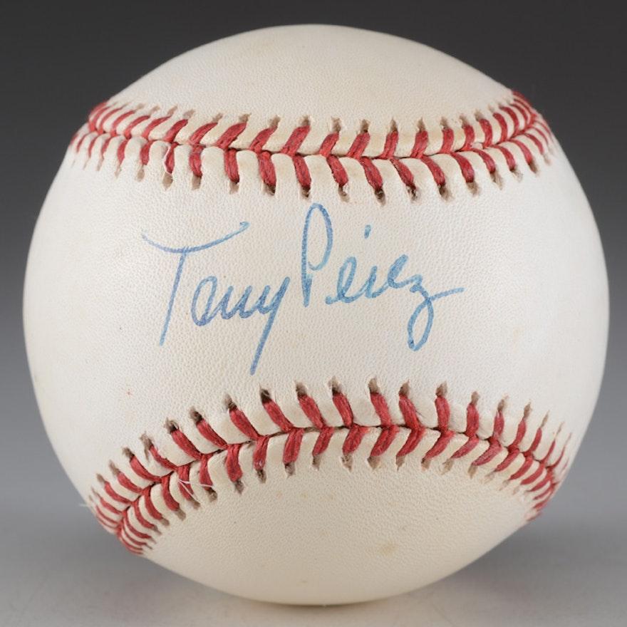 Tony Perez (HOF) Signed National League Baseball COA