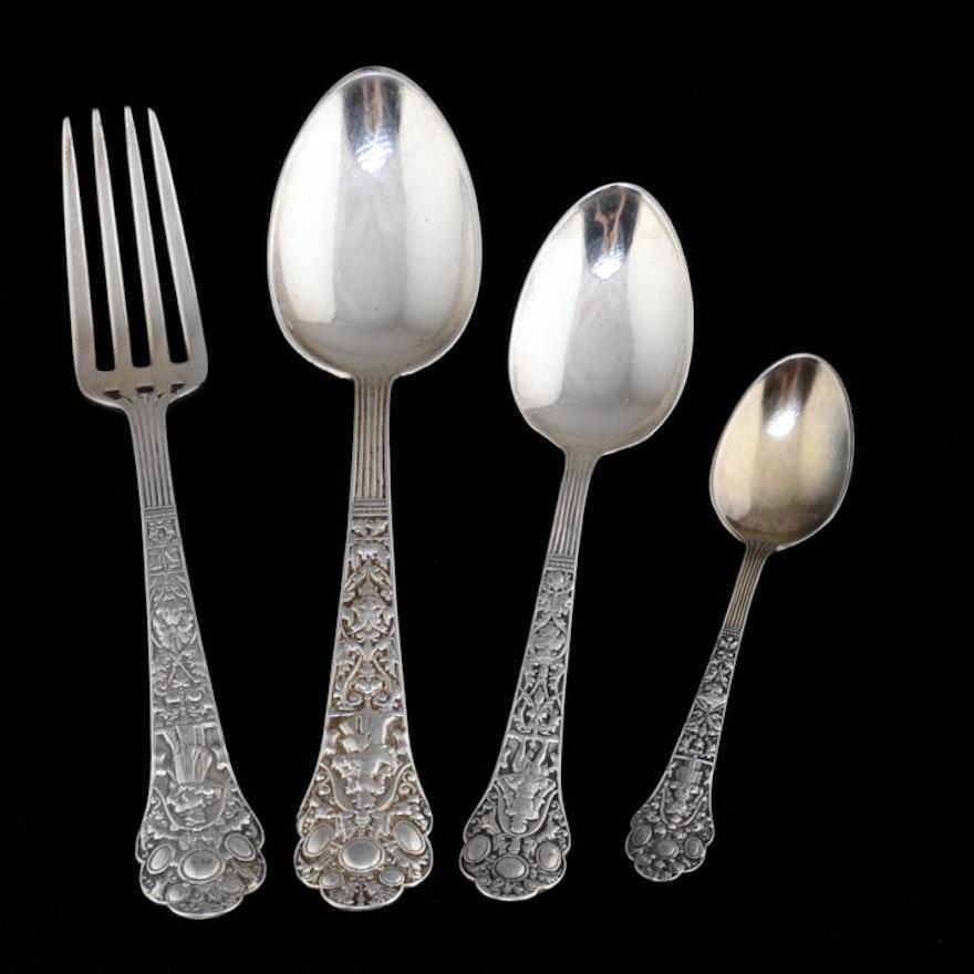 """Antique Gorham Sterling Silver """"Medici-Old"""" Flatware Set"""