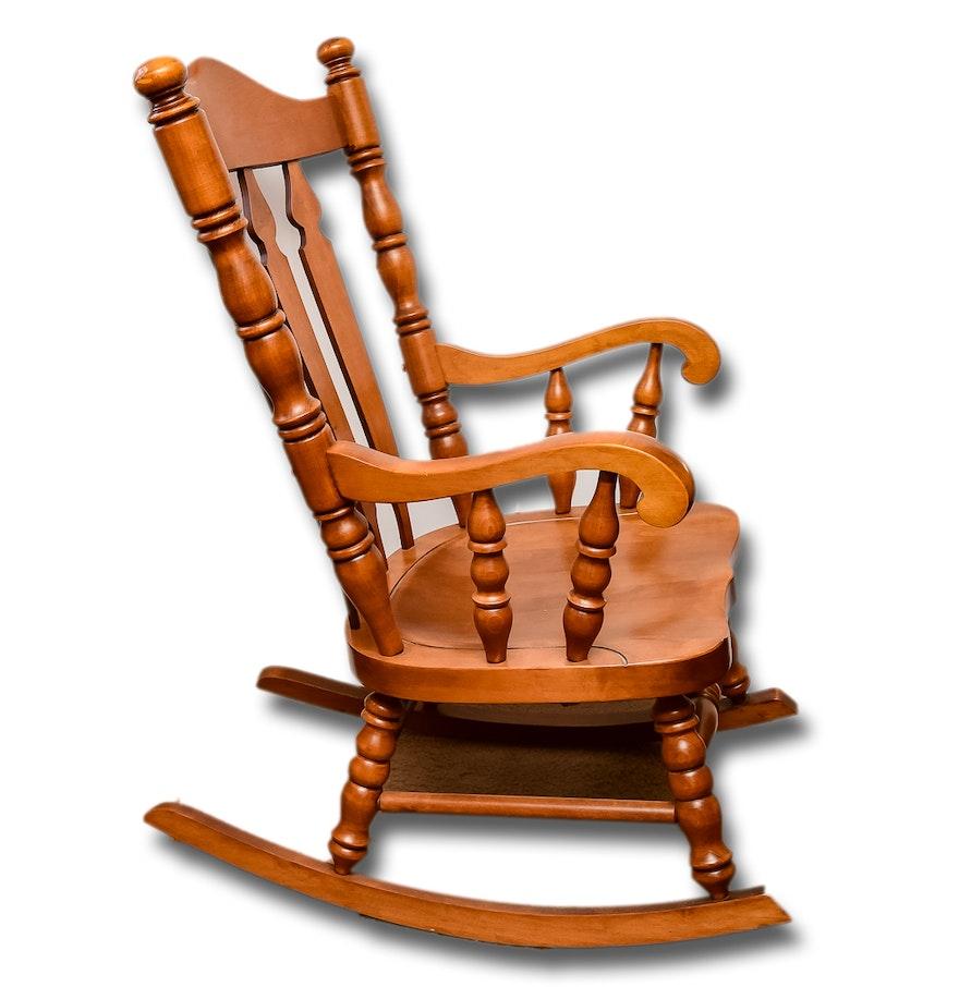 Tell City Chair Company Maple Rocking Chair Ebth