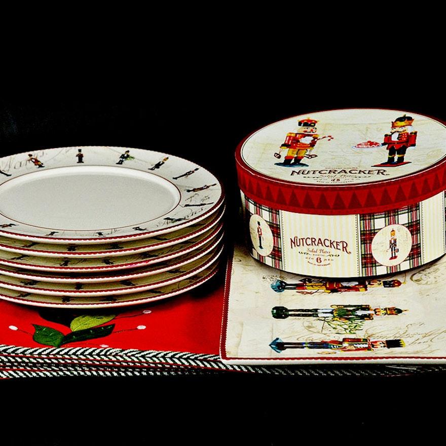 Williams Sonoma Christmas Table.Williams Sonoma And Crate Barrel Christmas Setting For Six