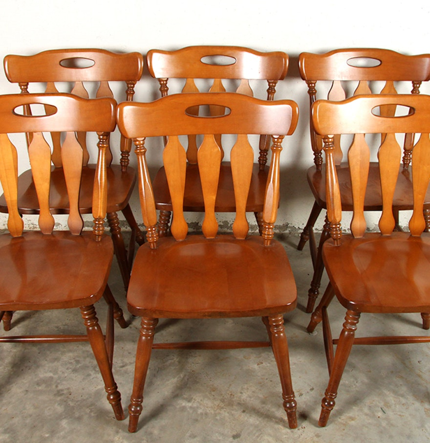 Antique St. Johns Table Company Maple Dining Room Chairs : EBTH