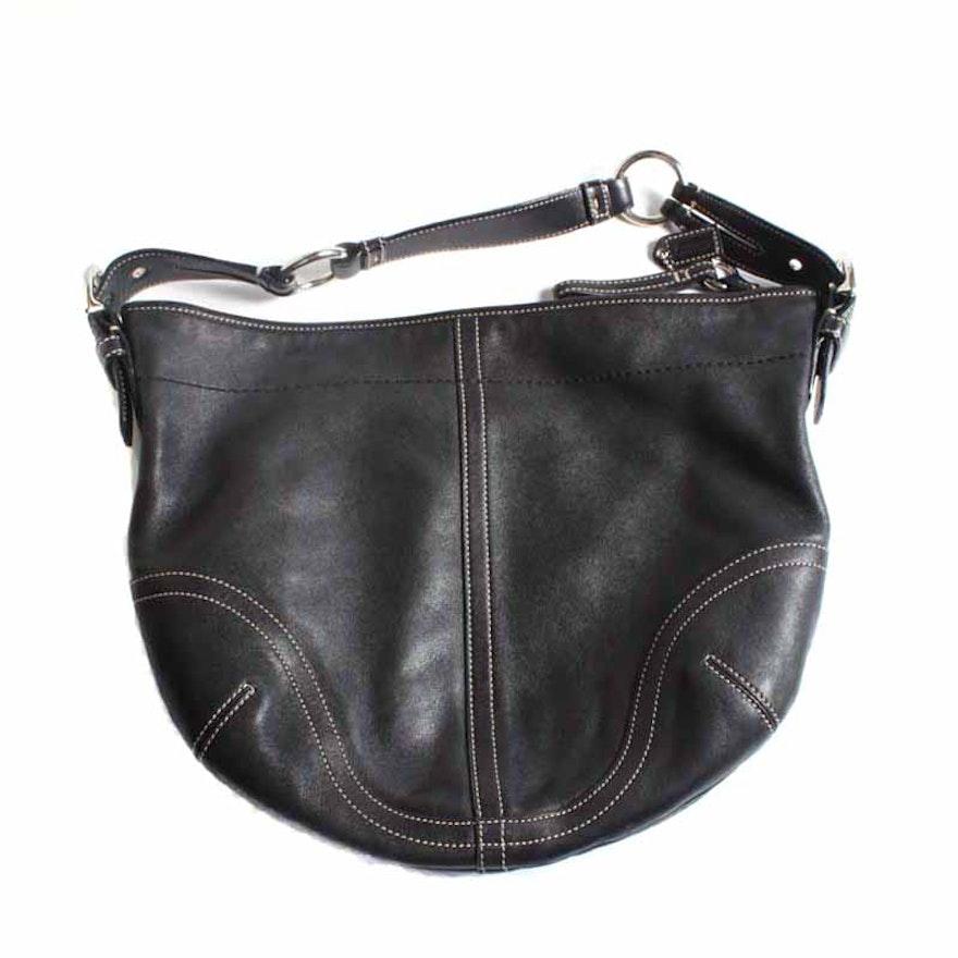 e63dc0fd0b Coach Black Leather Soho Hobo Shoulder Bag   EBTH