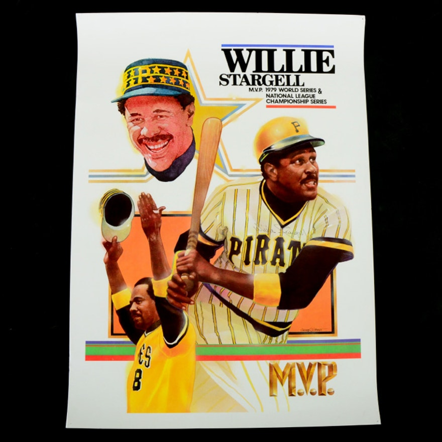 Willie Sargell Signed MVP Print