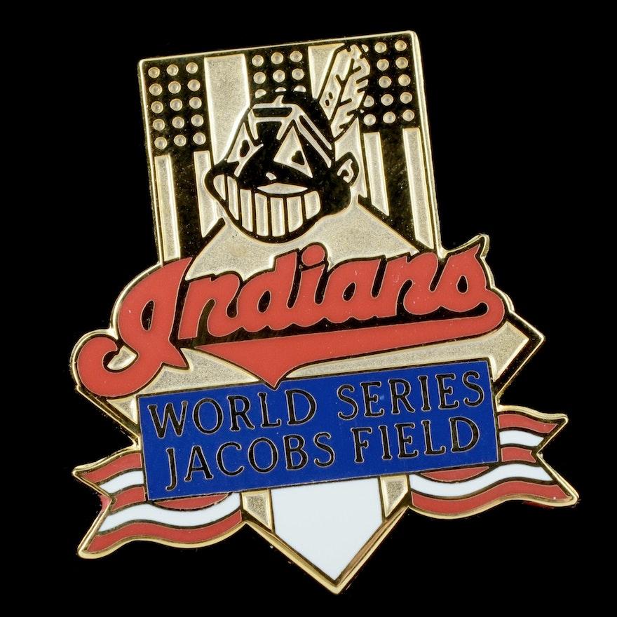Cleveland Indians 1995 World Series Press Pin