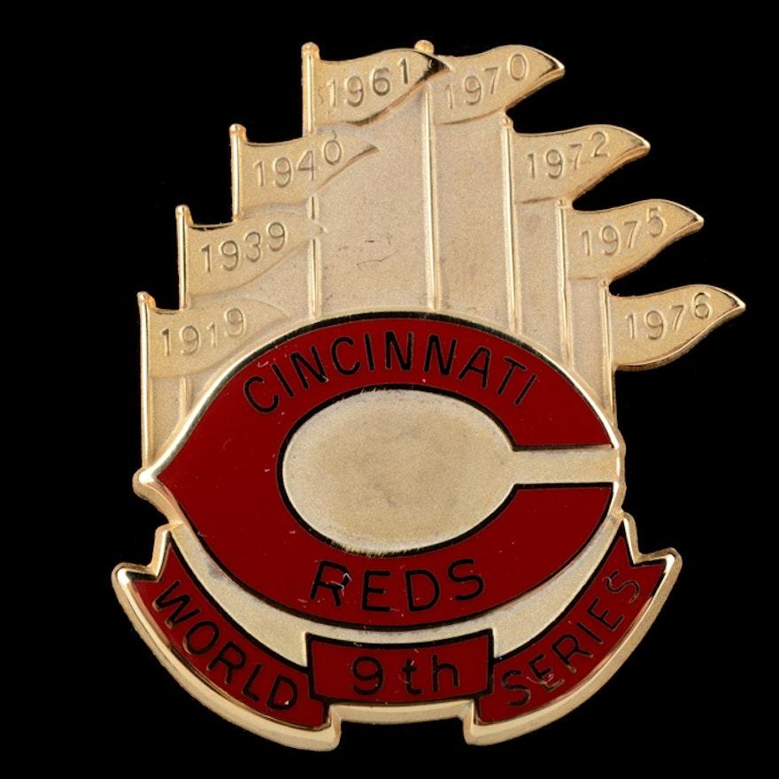 1990 Cincinnati Reds World Series Press Pin In Box