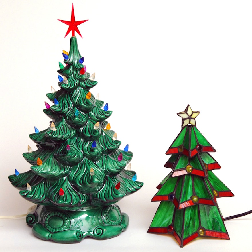 Atlantic Mold and Stained Glass Christmas Trees ... - Atlantic Mold And Stained Glass Christmas Trees : EBTH