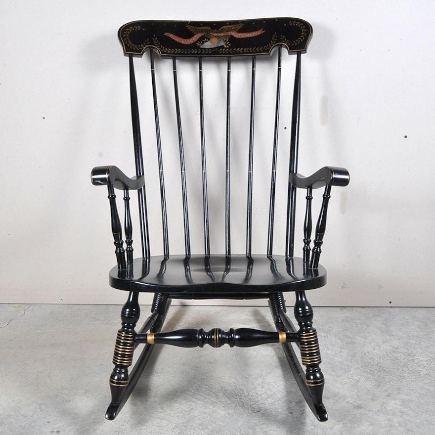 Awe Inspiring Hitchcock Style Rocking Chair Interior Design Ideas Clesiryabchikinfo