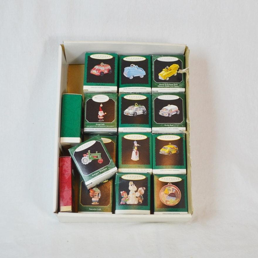 14 Miniature Hallmark Keepsake Ornaments