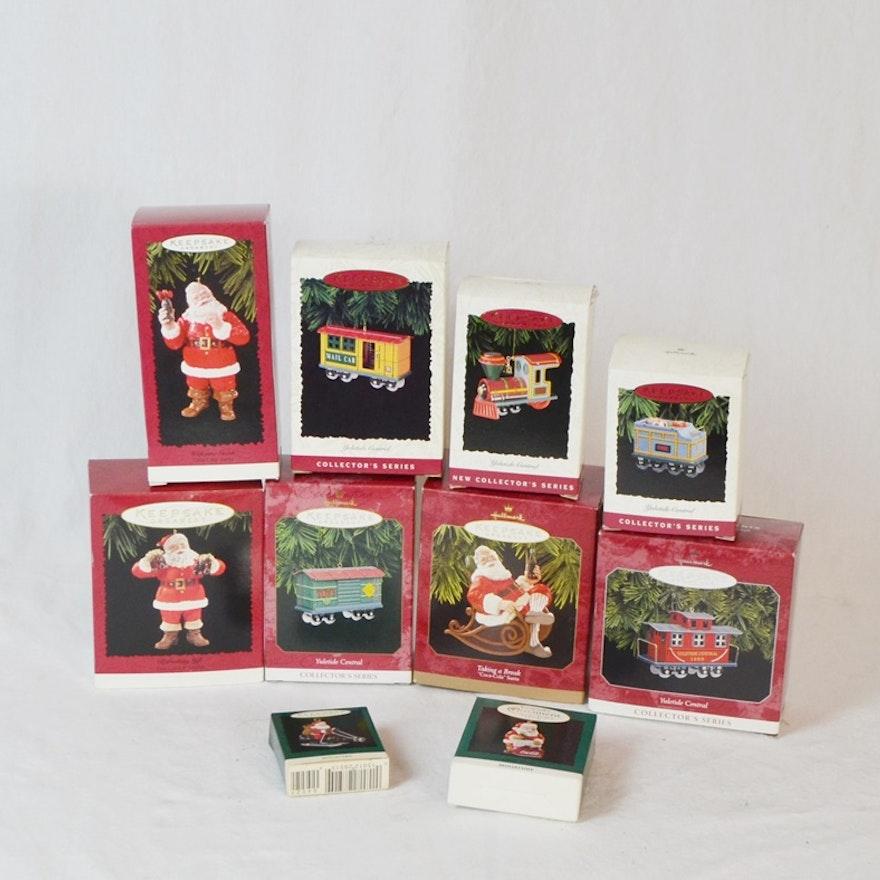 10 Coca Cola & Train Hallmark Keepsake Ornaments