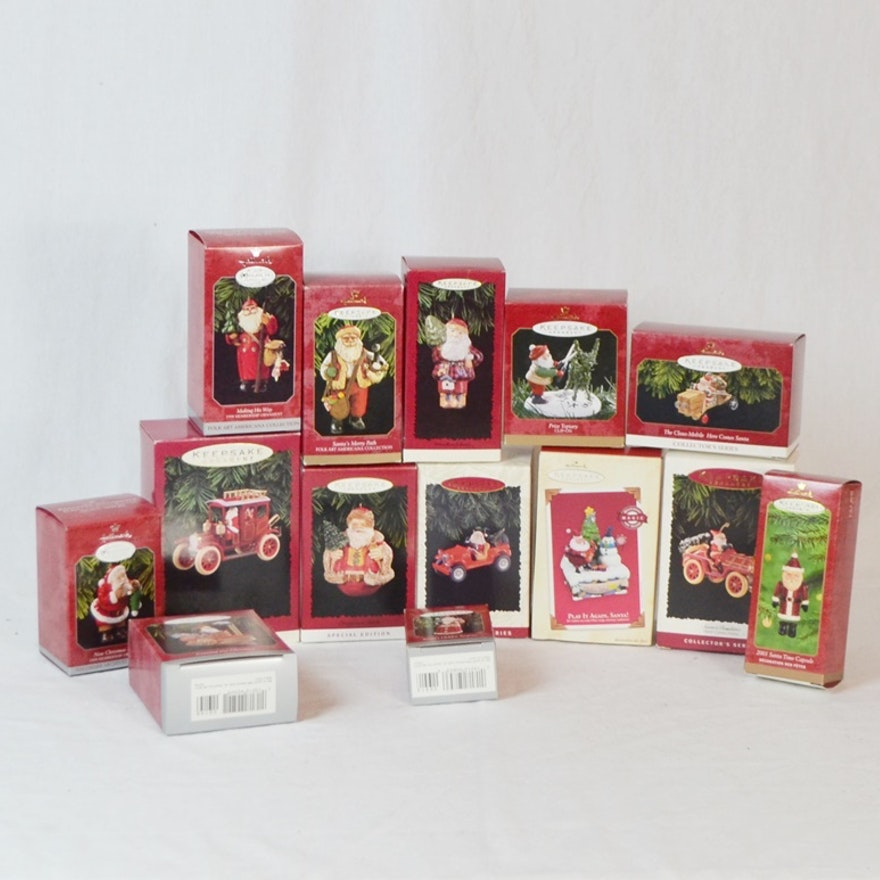14 Santa Claus Themed Hallmark Keepsake Ornaments