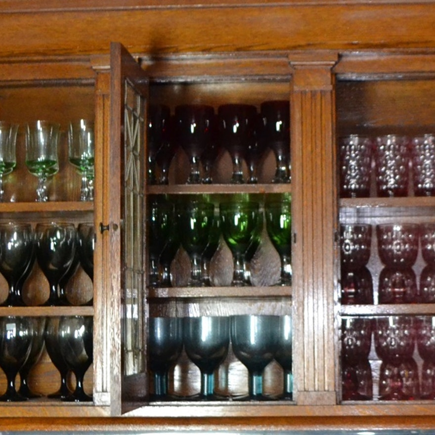 Cabinet Of Glassware From Pier 1 Imports