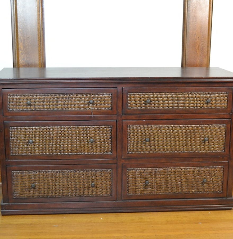Wood And Rattan Dresser From Pier 1 Imports Ebth