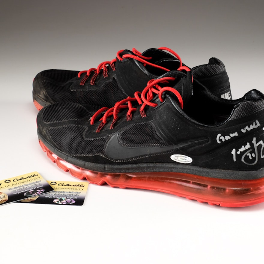 Todd Frazier Signed Game Used Shoes  COAs