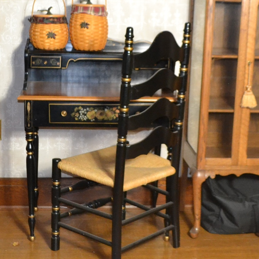 Reproduction Hitchcock Style Writing Desk & Chair