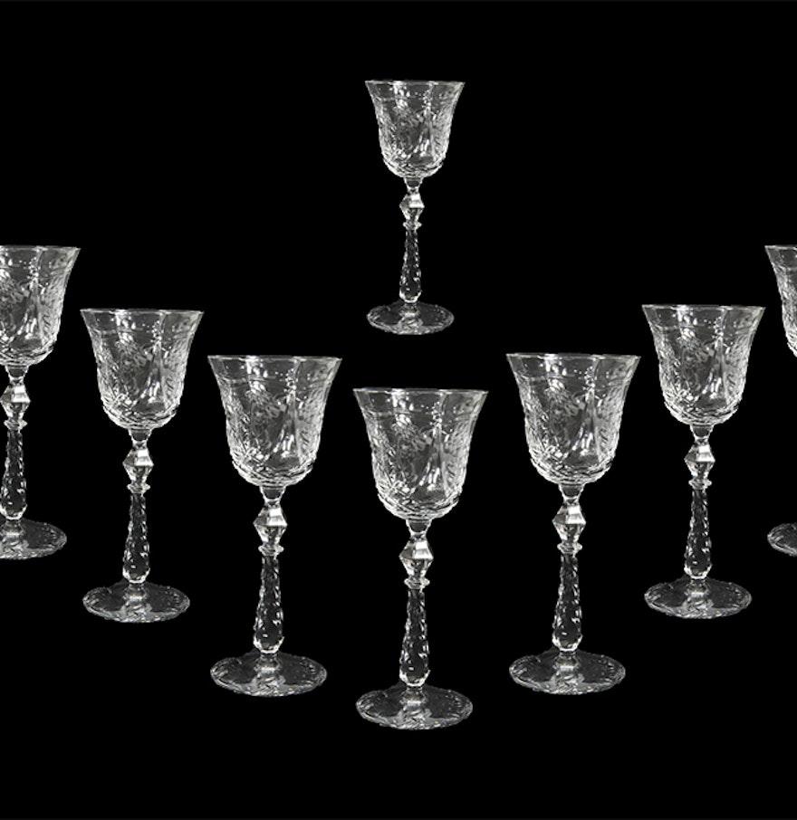 Bohemian Crystal Cordial Glasses : EBTH