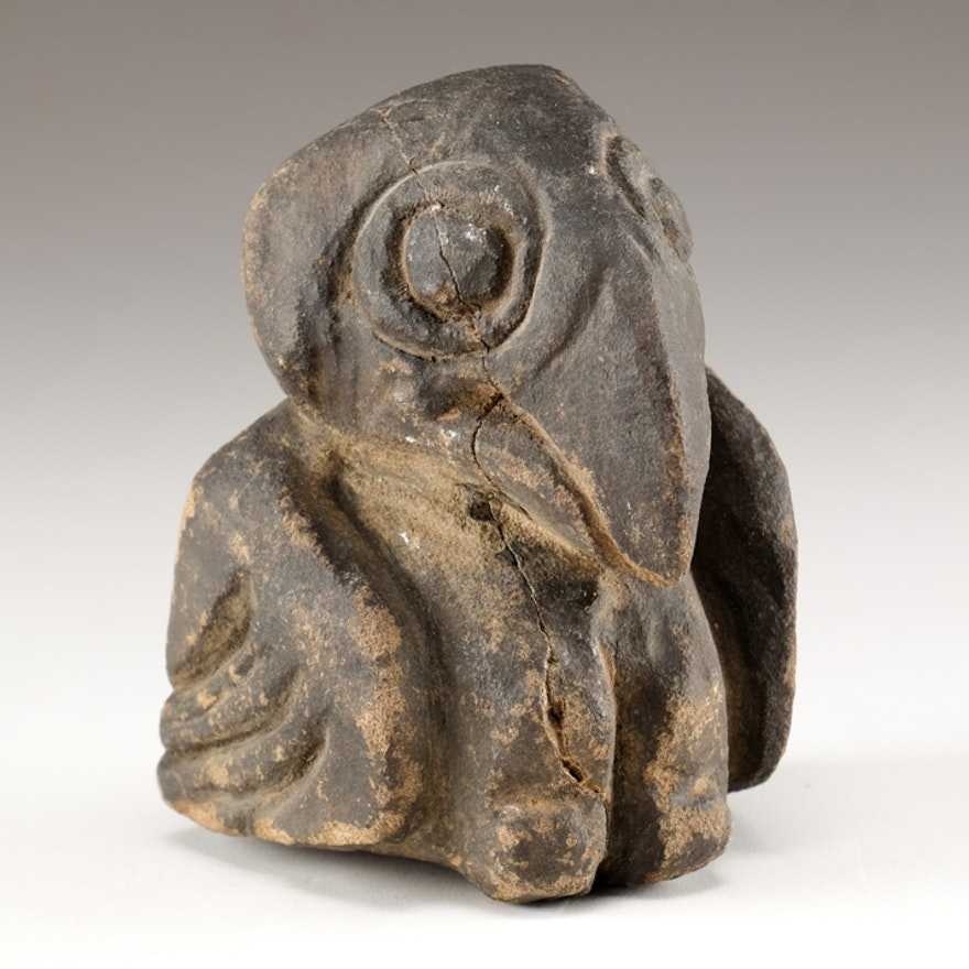 Pre-Columbian Aztec Carved Stone Eagle