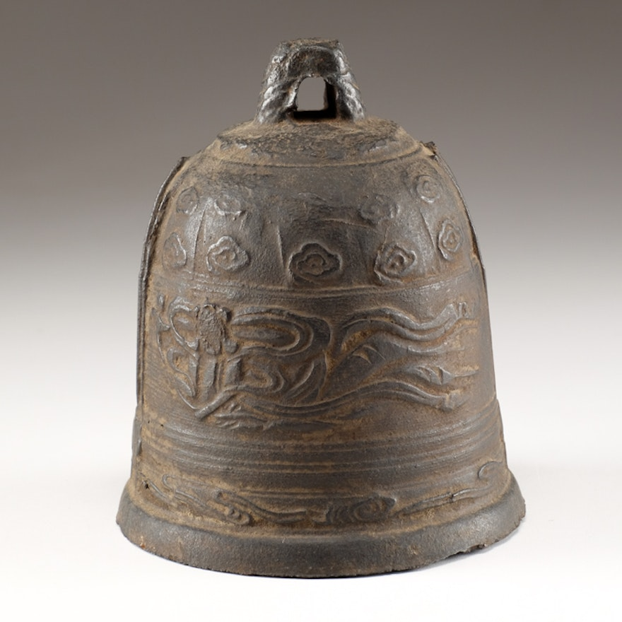Japanese Temple Bell Late 19th Century