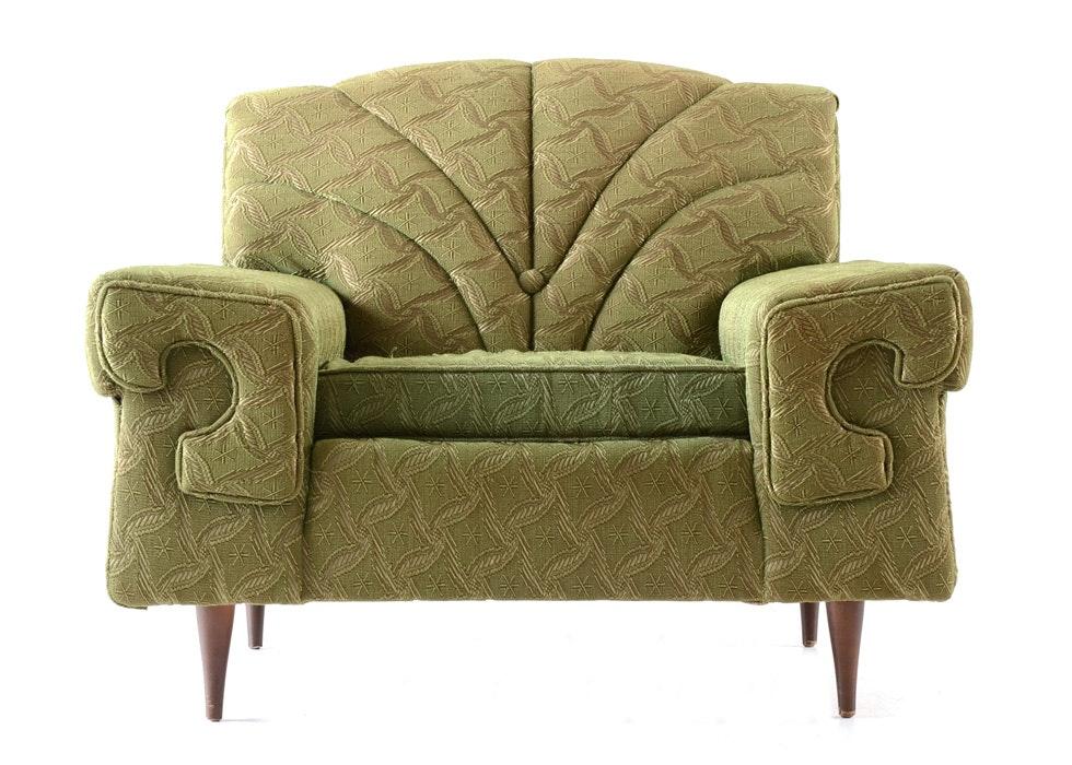 Delightful Sawyers Furniture Green Armchair