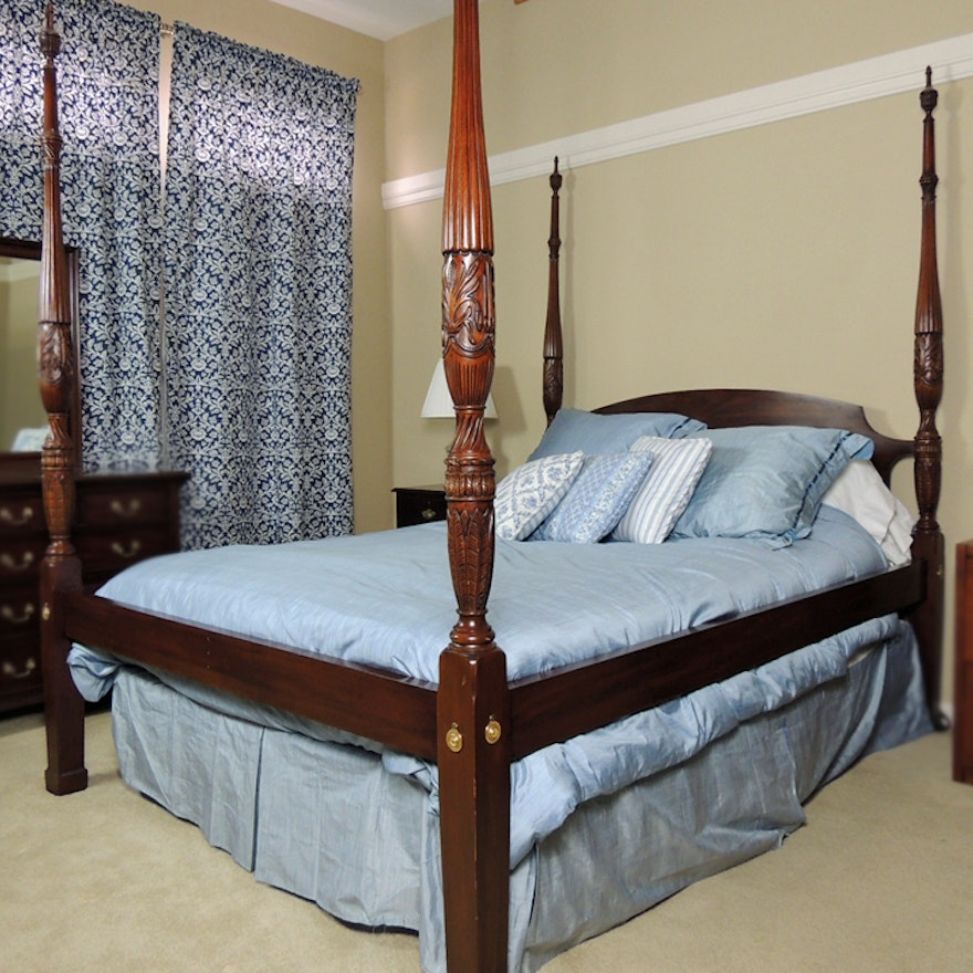 Henkel Harris Mahogany Rice Bed Ebth