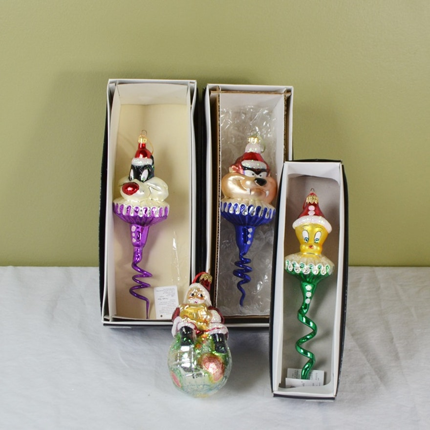 Christopher Radko Looney Tunes Art Glass Ornaments