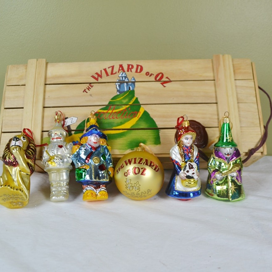 Set Of Limited Edition Wizard of Oz hand Blown Polish Oranments