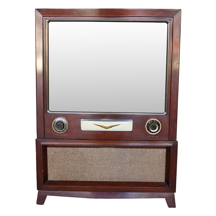 1950s RCA Victor CRT TV Console with Record Player