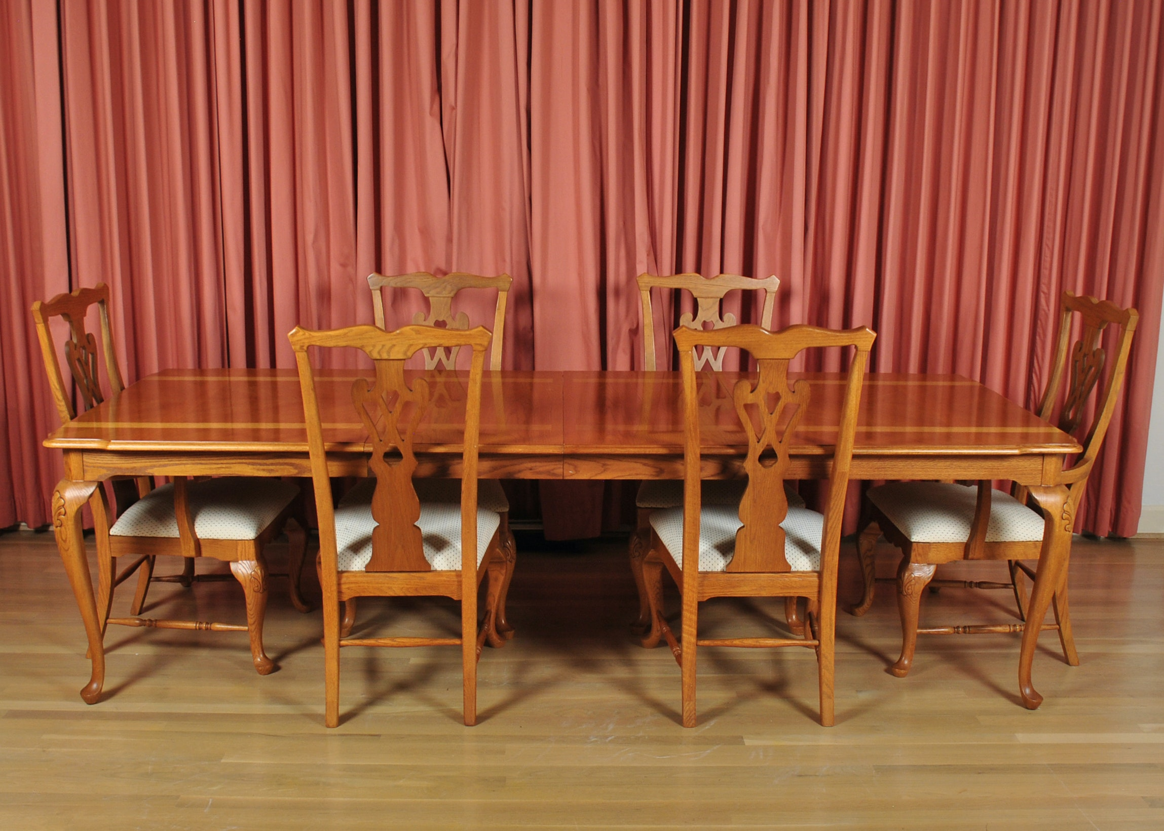 Thomasville Furniture Industries Inc. Banquet Table And Chairs