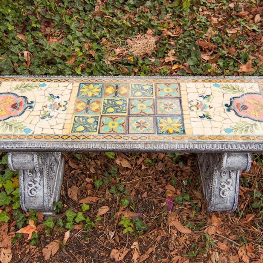 Marvelous Mosaic Garden Bench Ibusinesslaw Wood Chair Design Ideas Ibusinesslaworg