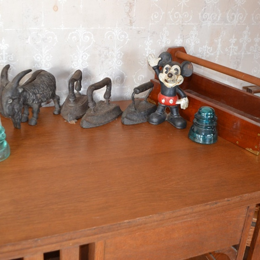 Vintage/Antique Cast Iron & Other Items