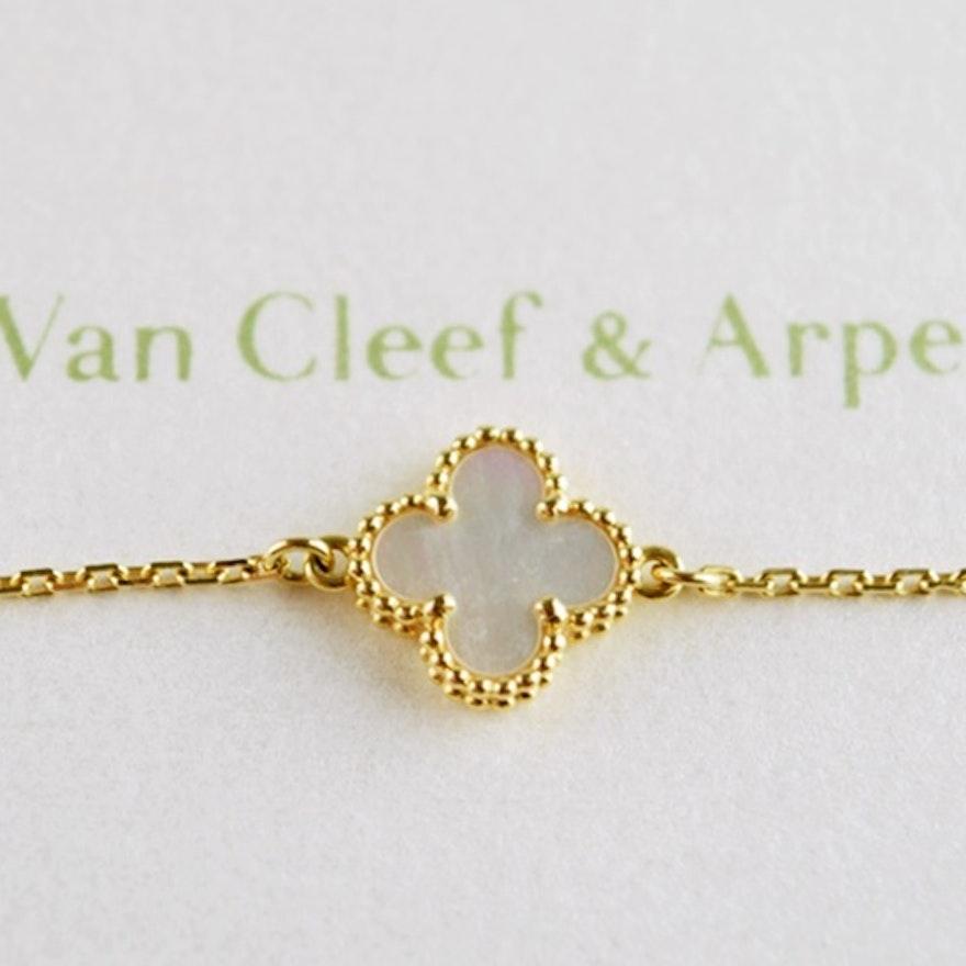Van Cleef Arpels Sweet Alhambra Bracelet In 18k Rose Gold Ebth