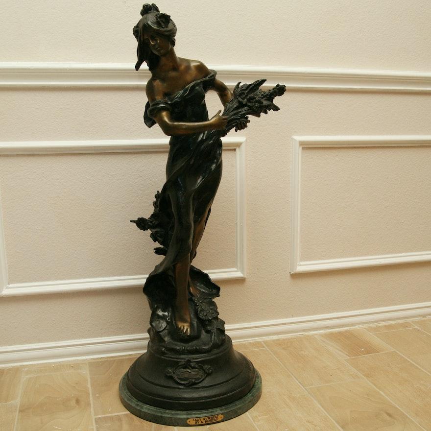 b693ef7c459 Bronze Sculpture After Auguste Moreau s
