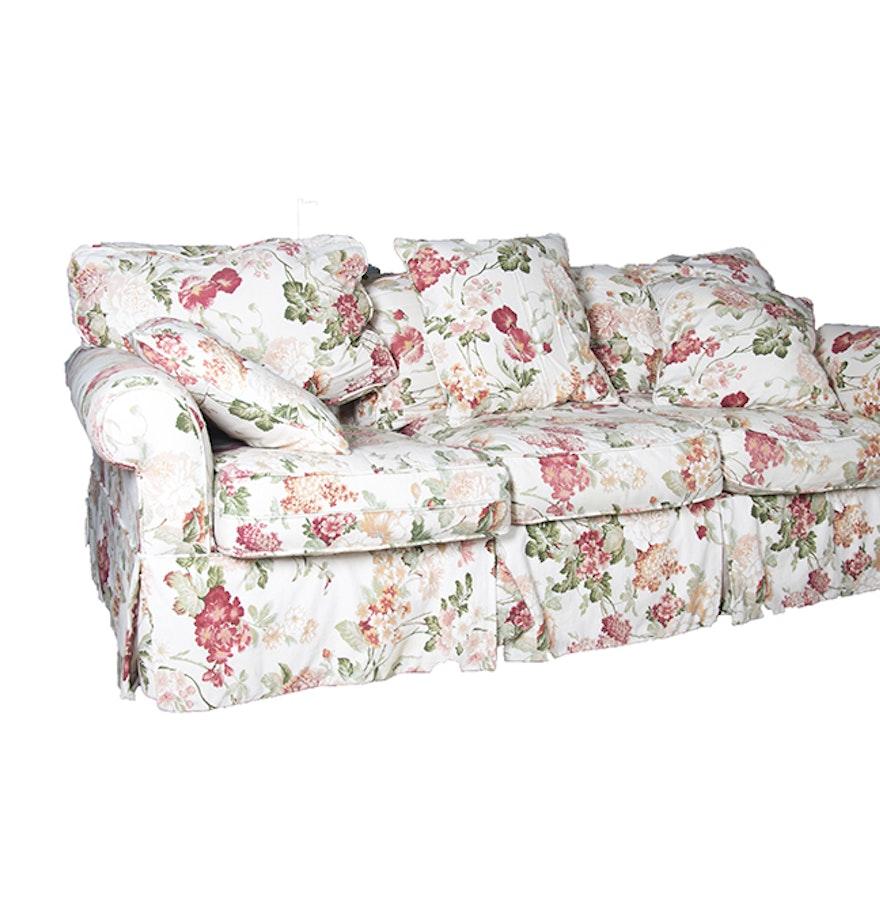 Rowe Furniture Floral Sofa : EBTH