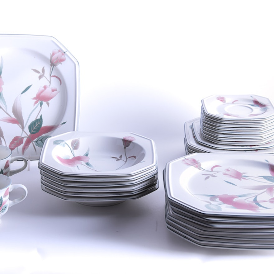 Mikasa silk flowers ceramic tableware set ebth mikasa silk flowers ceramic tableware mightylinksfo