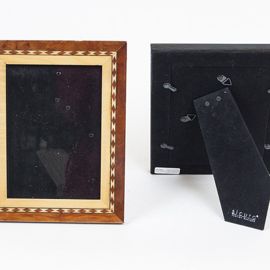Set of Inlaid Wood Picture Frames : EBTH