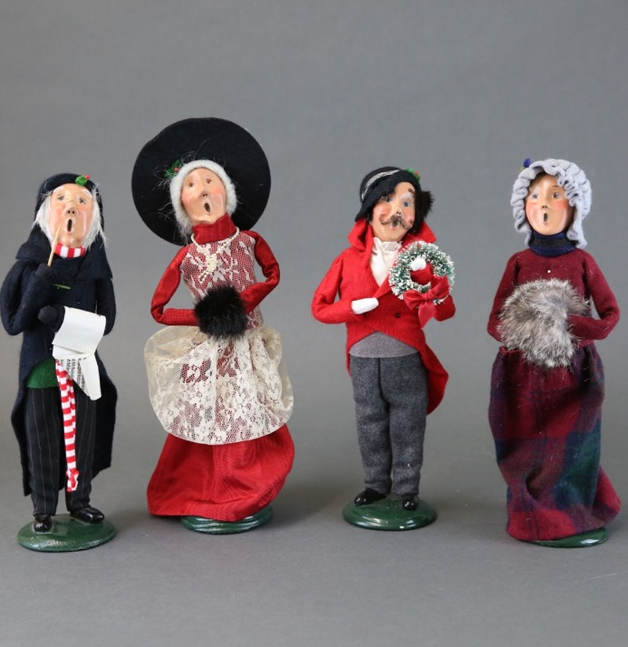 Christmas carolers figurines for sale - Collection Of Byers Choice The Carolers Figurines