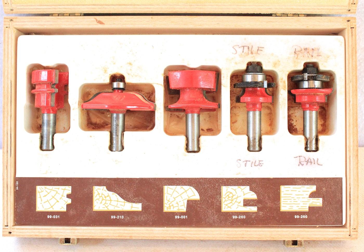 Freud 94 100 Five Piece Cabinet Door Router Bit Set Ebth