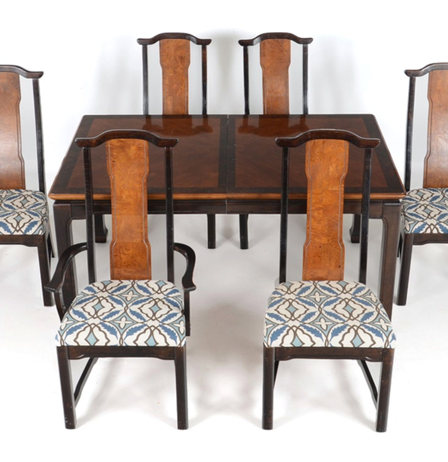 Broyhill Dining Room Table Broyhill Ming Dynasty Dining Table And Six Chairs Ebth