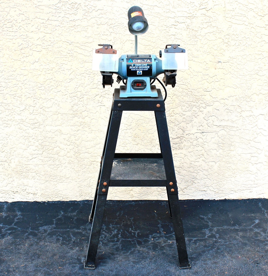 Delta Bench Grinder With Flexible Lamp And Stand Ebth